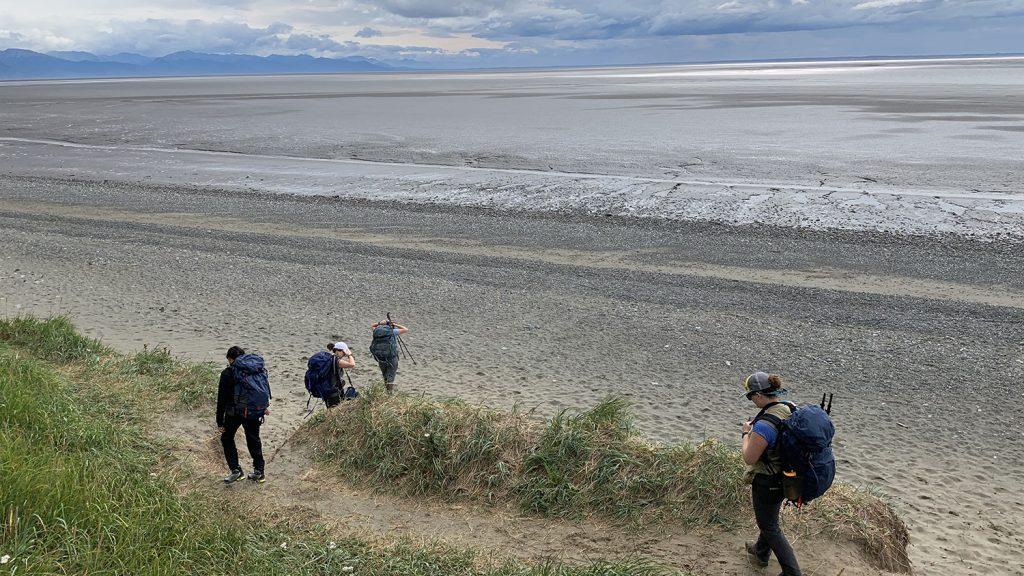 Hiking To Sampling Site SC Alaska