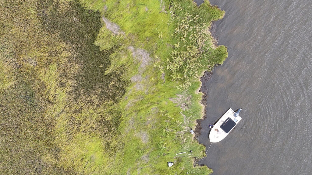Drone Shot over water