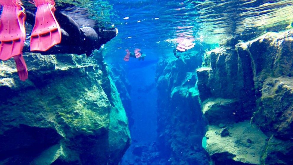 Snorkeling in Glacial Water - Iceland